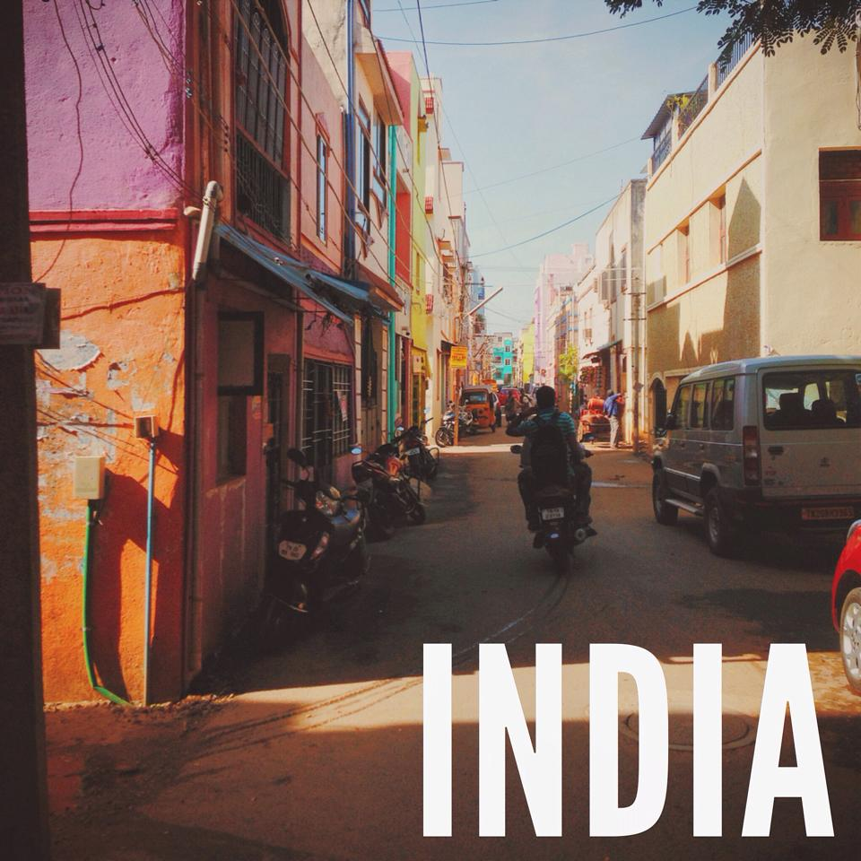 India with ends of the earth cycling