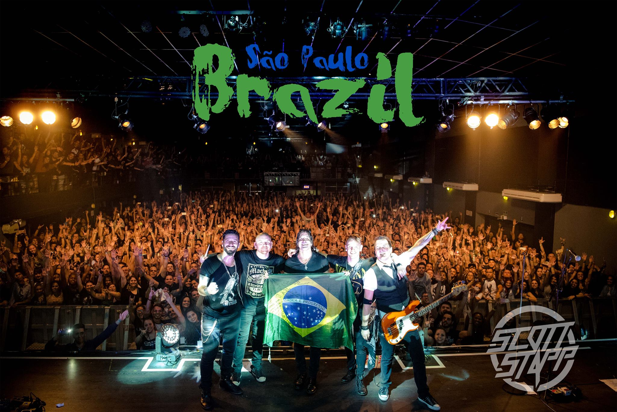 Tour Photographer Justin Willet in Brazil with Scott Stapp