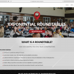 Exponential Roundtables Web Design